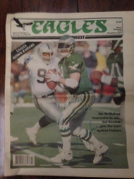 Jim McMahon Autographed Eagles Digest Newspaper Personalized to Randall Cunningham