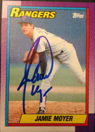 Jamie Moyer Autographed 1990 Topps #412