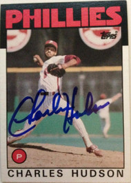 Charles Hudson Autographed 1986 Topps #792