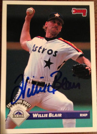 Willie Blair Autographed 1993 Donruss #740