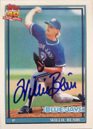 Willie Blair Autographed 1991 Topps #191