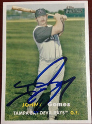 Jonny Gomes Autographed 2006 Topps Heritage #477