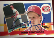 Todd Benzinger Autographed 1990 Topps Big #14