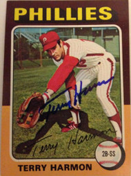 Terry Harmon Autographed 1975 Topps Mini #399