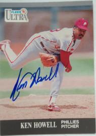 Ken Howell Autographed 1991 Fleer Ultra #265