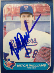 Mitch Williams Autographed 1986 Fleer Update #U-127 Rookie Card