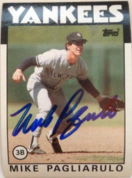 Mike Pagliarulo Autographed 1986 Topps #327