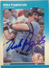 Mike Pagliarulo Autographed 1987 Fleer #107