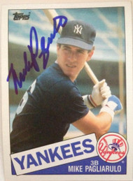 Mike Pagliarulo Autographed 1985 Topps #638