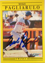 Mike Pagliarulo Autographed 1991 Fleer Update #U-40