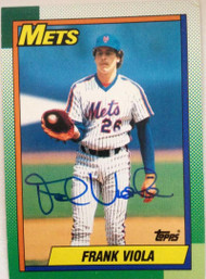 Frank Viola Autographed 1990 Topps #470