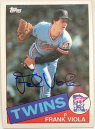 Frank Viola Autographed 1985 Topps #266