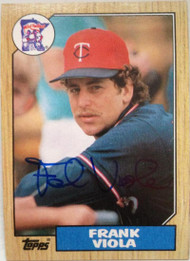 Frank Viola Autographed 1987 Topps #310