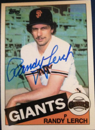 Randy Lerch Autographed 1985 Topps Tiffany #103