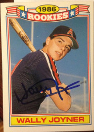 Wally Joyner Autographed 1987 Topps Rookies #7
