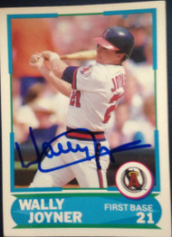 Wally Joyner Autographed 1988 Score Young Superstars #27