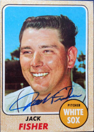 Jack Fisher Autographed 1968 Topps #444