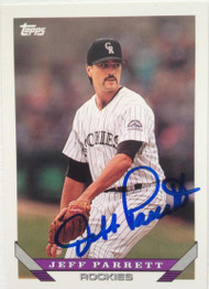 Jeff Parrett Autographed 1993 Topps Traded #46T