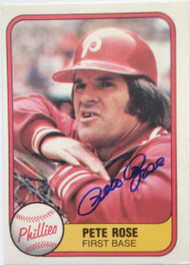 Pete Rose Autographed 1981 Fleer #1