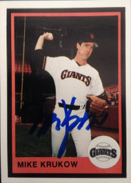 Mike Krukow Autographed 1983 Mother's Cookies #12