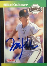 Mike Krukow Autographed 1989 Donruss Baseball's Best #135