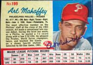Art Mahaffey Autographed 1962 Post Cereal #199