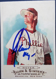 Jamie Moyer Autographed 2009 Topps Allen and Ginter #68