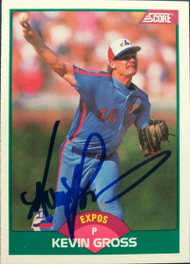 Kevin Gross Autographed 1989 Score Traded #39-T