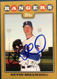 Kevin Millwood Autographed 2008 Topps Gold Border #566 985/2008
