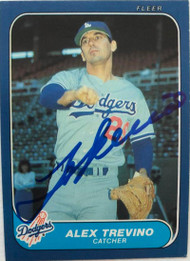 Alex Trevino Autographed 1986 Fleer Update #119
