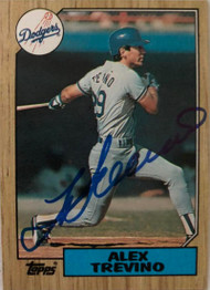 Alex Trevino Autographed 1987 Topps #173