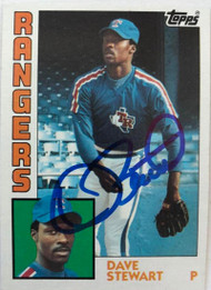 Dave Stewart Autographed 1984 Topps #352