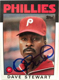 Dave Stewart Autographed 1986 Topps #689