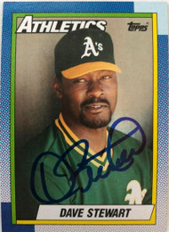 Dave Stewart Autographed 1990 Topps #270