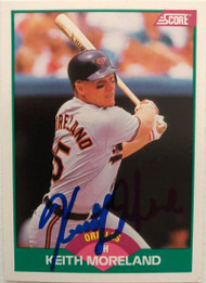 Keith Moreland Autographed 1989 Score Rookie/Traded #29T