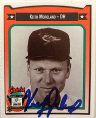 Keith Moreland Autographed 1991 Orioles Crown #315