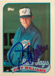 Jimy Williams Autographed 1989 Topps Tiffany #594