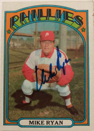 Mike Ryan Autographed 1972 Topps #324