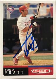 Todd Pratt Autographed 2002 Topps Total #481