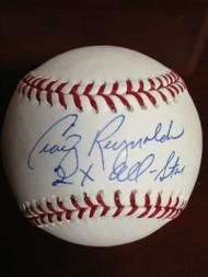 SOLD 798 Craig Reynolds Autographed ROMLB Baseball 2 X All-Star