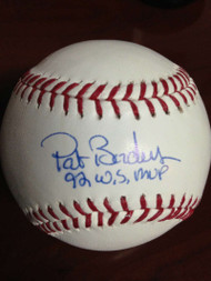 SOLD 825 Pat Borders Autographed ROMLB Baseball 1992 W.S. MVP