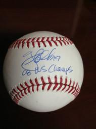 Greg Dobbs Autographed ROMLB Baseball 08 WS Champs