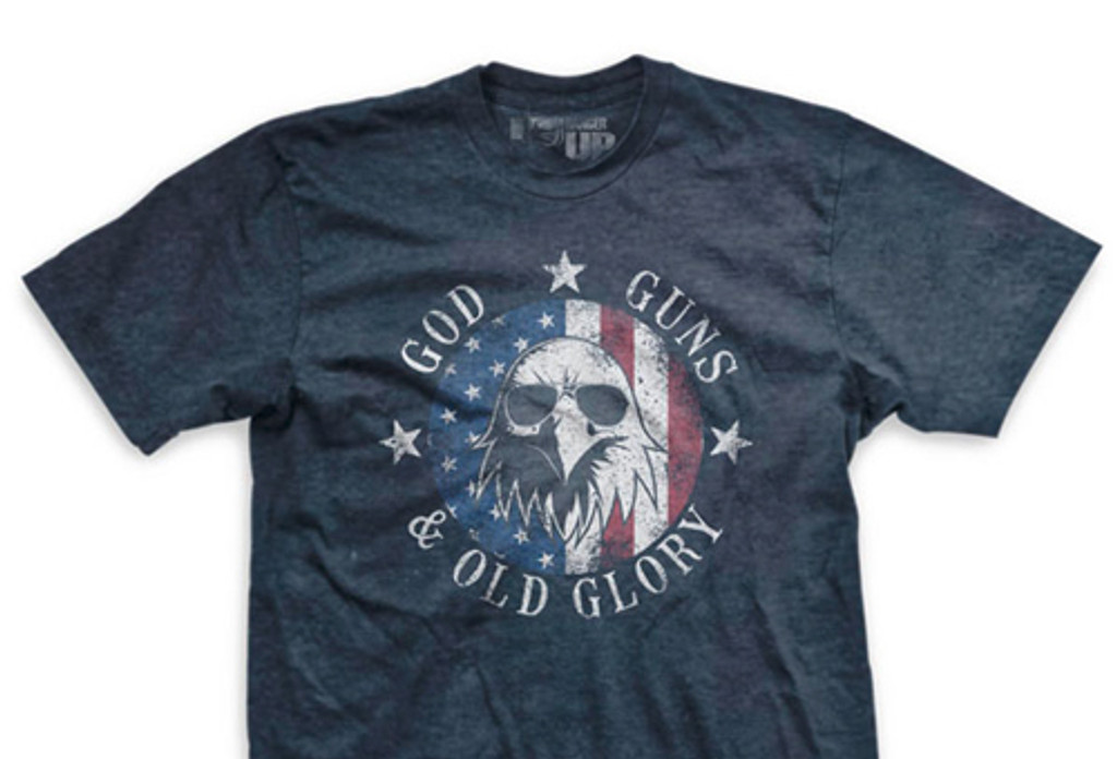 PREORDER God, Guns, and Old Glory Ultra-Thin Vintage T-Shirt