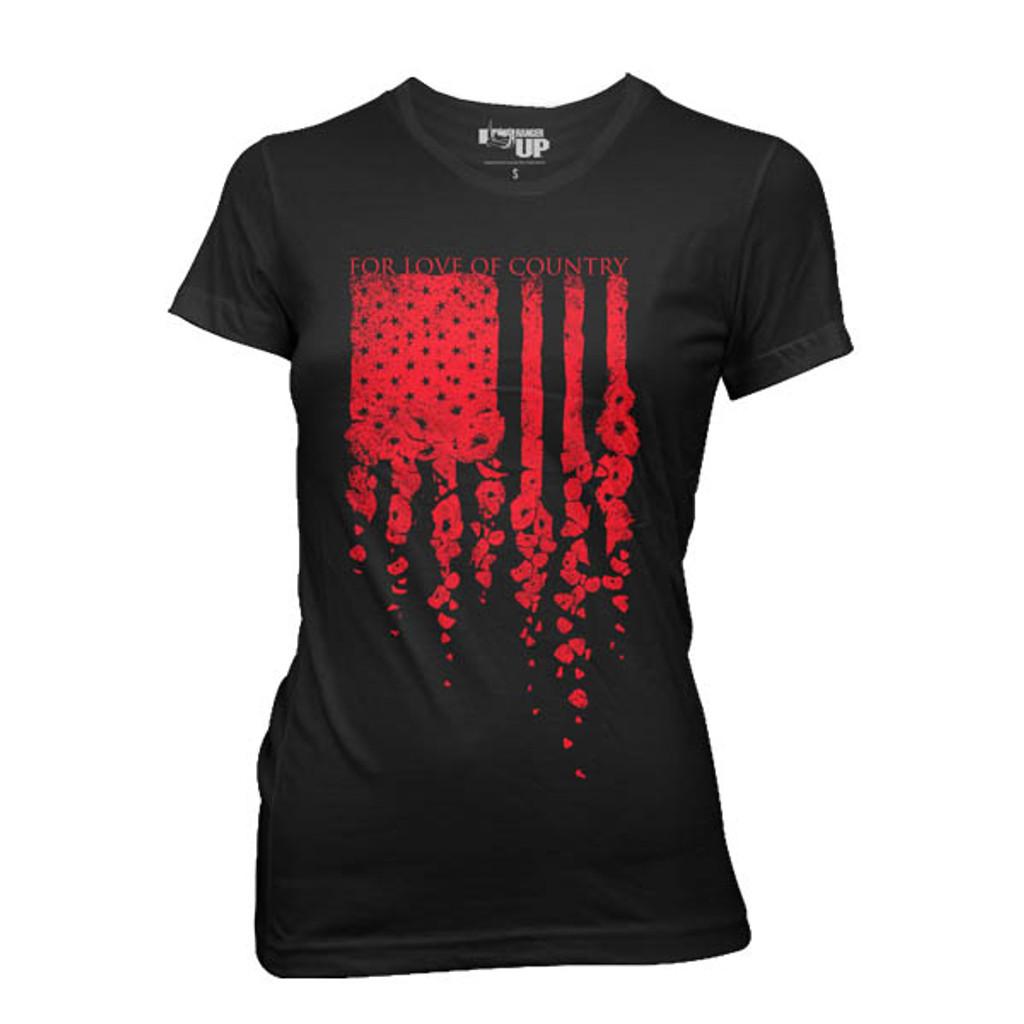WOMEN'S Poppy Flag T-Shirt