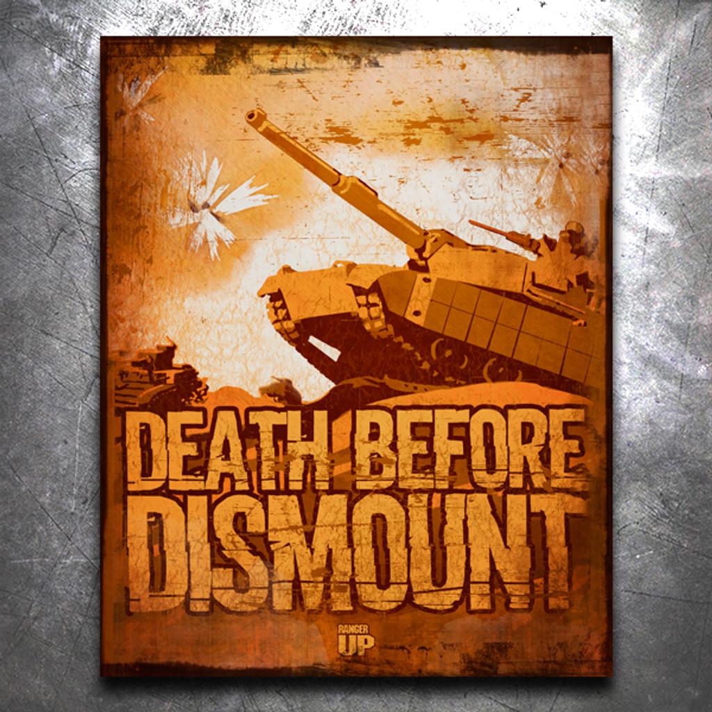 Death Before Dismount Vintage Tin Sign
