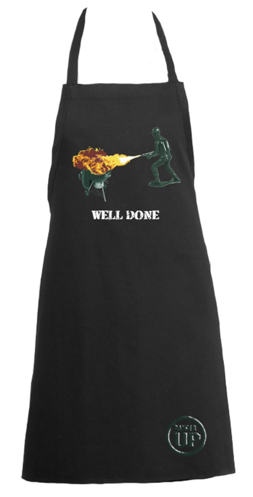 Green Army Man Well Done Apron