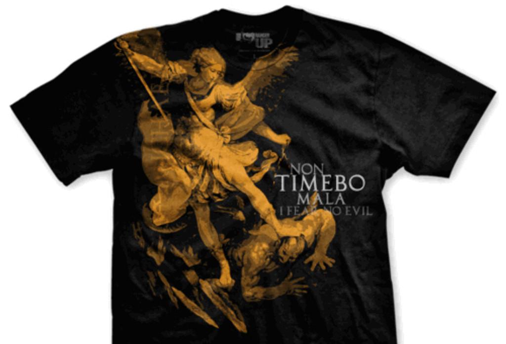 Saint Michael Archangel Protector Normal Fit T-Shirt