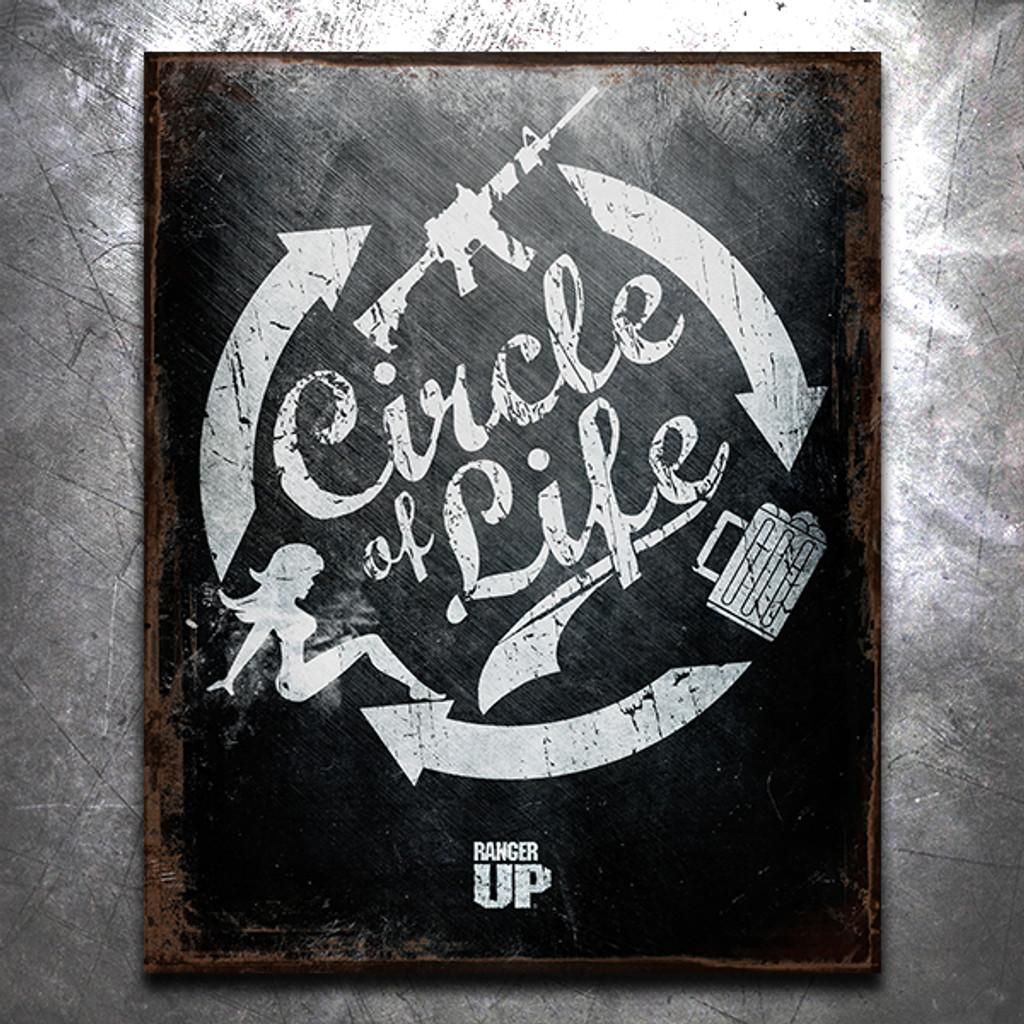 Circle of Life Vintage Tin Sign
