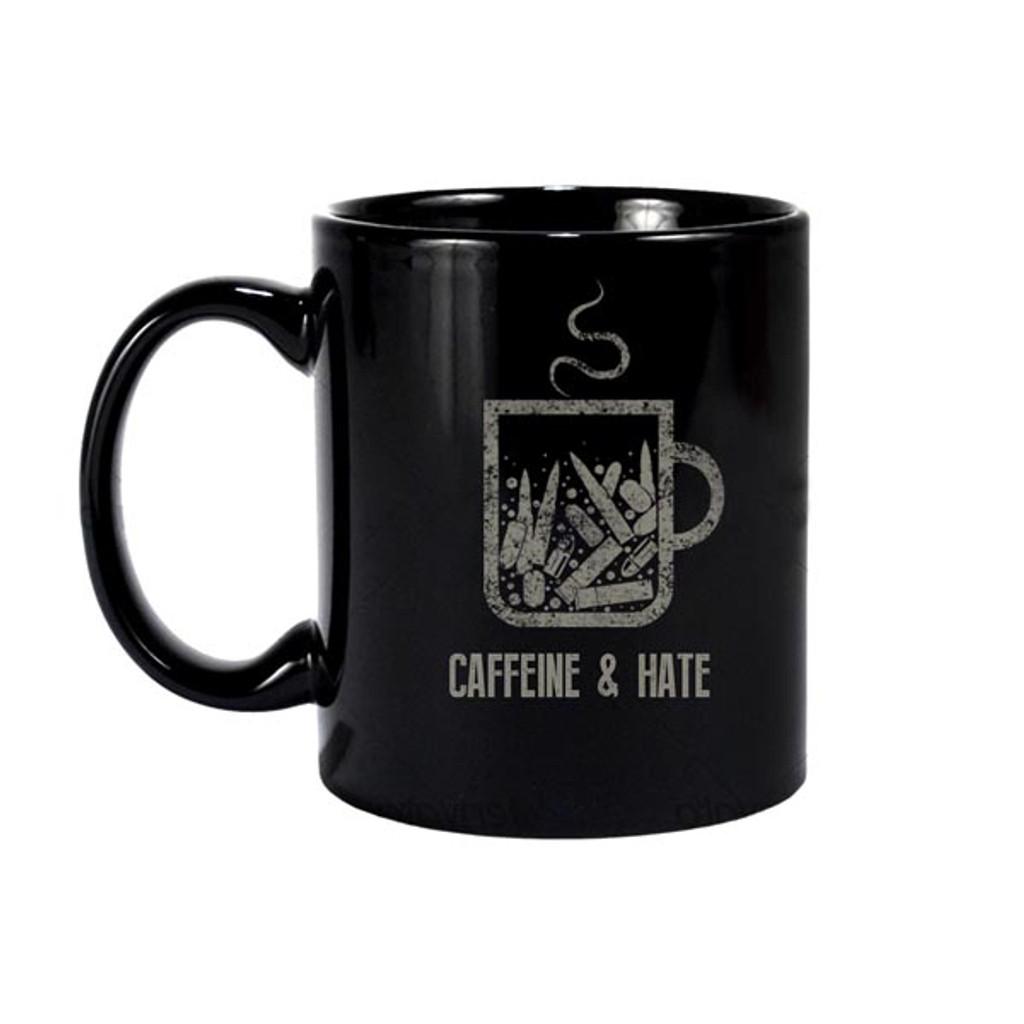 Caffeine and Hate: Bullets Caffeine and Hate Mug