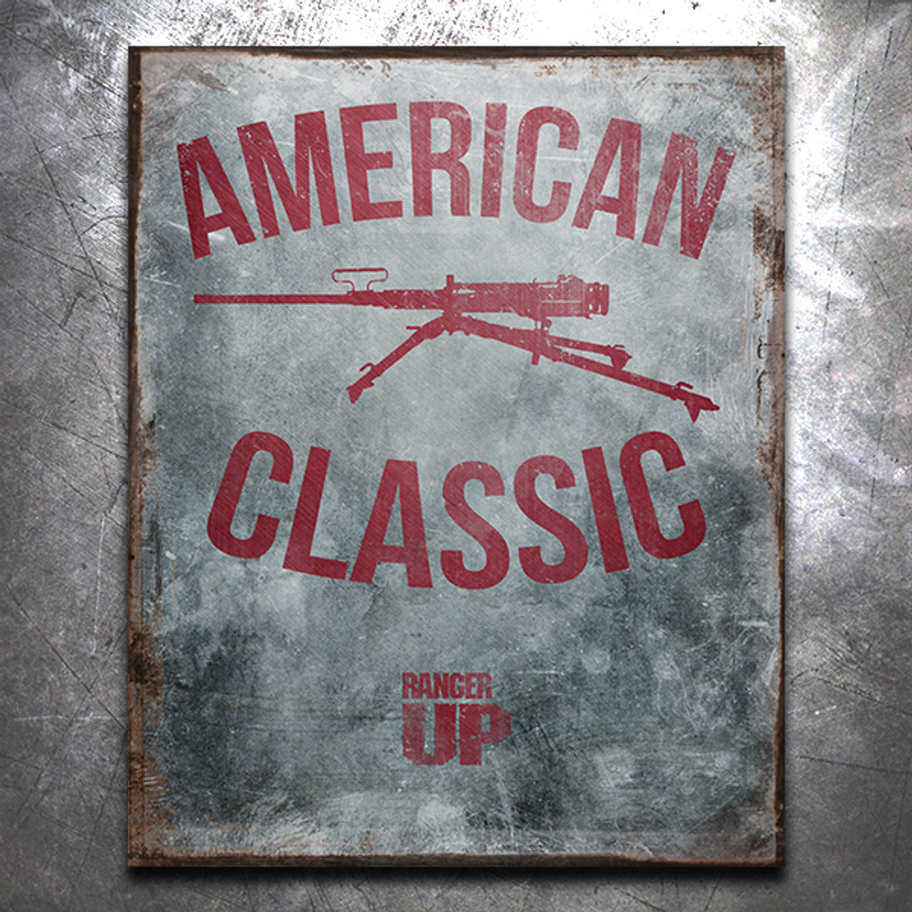 American Classic .50 Cal Vintage Tin Sign